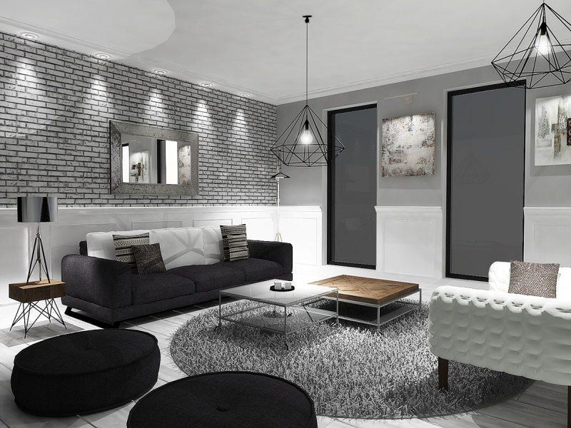 Черно-белый интерьер в вашем доме