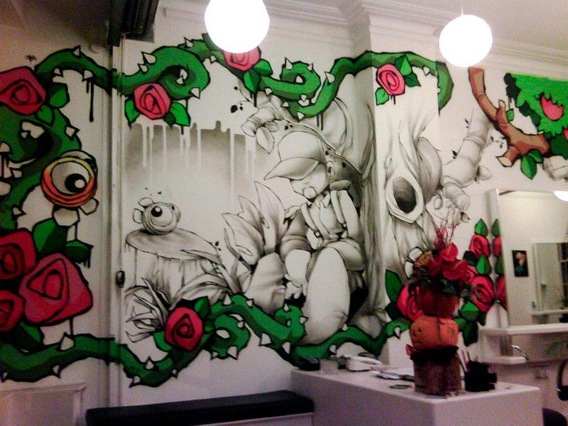 Роспись стен помогает украсить ваше помещение